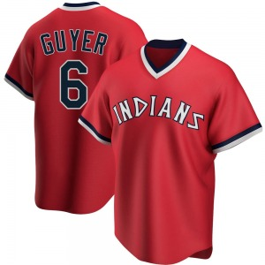 Brandon Guyer Cleveland Indians Replica Road Cooperstown Collection Jersey - Red