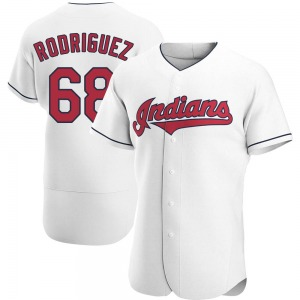 Jefry Rodriguez Cleveland Indians Authentic Home Jersey - White