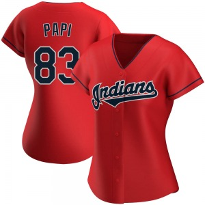 Mike Papi Cleveland Indians Women's Replica Alternate Jersey - Red