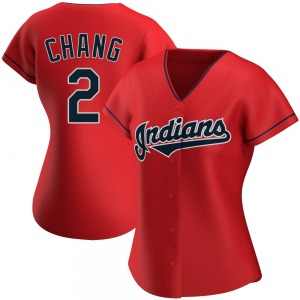 Yu-Cheng Chang Cleveland Indians Women's Replica Alternate Jersey - Red