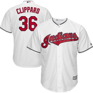 Tyler Clippard Cleveland Indians Youth Replica Cool Base Home Majestic Jersey - White