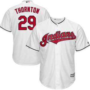 Andre Thornton Cleveland Indians Youth Replica Cool Base Home Majestic Jersey - White