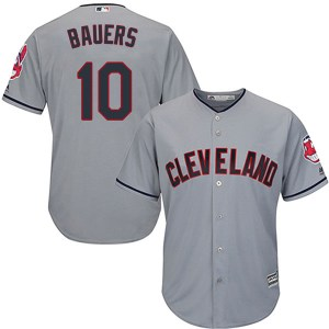 Jake Bauers Cleveland Indians Youth Replica Cool Base Road Majestic Jersey - Gray