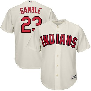 Oscar Gamble Cleveland Indians Youth Replica Cool Base Alternate Majestic Jersey - Cream