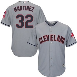 Dennis Martinez Cleveland Indians Authentic Cool Base Road Majestic Jersey - Gray
