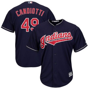 Tom Candiotti Cleveland Indians Replica Cool Base Alternate Majestic Jersey - Navy