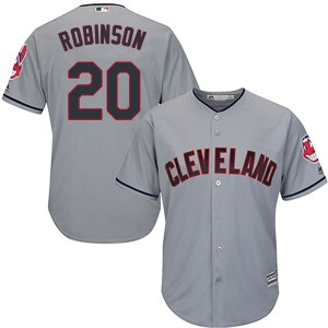 Frank Robinson Cleveland Indians Youth Authentic Cool Base Road Majestic Jersey - Gray